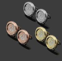 ingrosso orecchini di lettera d'amore dell'oro-Mai sbiadire la lettera di marca Orecchini in oro 18 carati placcato in acciaio inossidabile Semicerchio classico Amore orecchini rotondi per le donne coppia gioielli regalo