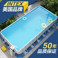 dizin havuzları toptan satış-INTEX Aile havuzu kalınlaşma balık gölet ticari havuz Braketi Yüzme havuzları çocuk oyun bahçesi hediyeler göndermek