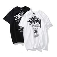 ingrosso ball room balls-T-shirt estiva da uomo nuova di zecca 2019 Stussy World Tour T-shirt a maniche corte classica con 15 colori New York Los Angeles Tokyo