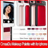 Wholesale glow lipstick resale online - CmaaDu Makeup Palette with for iphone s lipstick concealer glow cream cosmetics kit for inch phone
