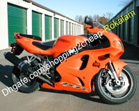 Wholesale kawasaki zx7r orange resale online - For Kawasaki Ninja ZX7R ZX R ZX R Orange Sport Motorbike ABS Motorcycle Fairing Kit