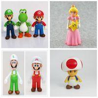 фигурка принцесс оптовых-Горячие Продажи 12 СМ Высокое Качество ПВХ Super Mario Bros Луиджи Юси Марио Принцесса Фигурки Подарочные Игрушки