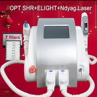 Wholesale salon light hair resale online - SHR E Light hair removal nd yag laser ipl shr hair removal machine beauty salon equipment Pure Sapphire