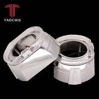 Wholesale lights xenon inch resale online - TAOCHIS inches MINI H1 bi xenon projector lens shroud car headlights mask chrome light guide angel eyes white red blue