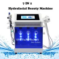 silah kullan toptan satış-Hydrafacial bipolar rf güzellik ekipmanları hidro kabuğu dermabrazyon Bio / Spary gun / salon kullanımı için Foton ışıkları
