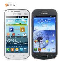 samsung telefon s7562 toptan satış-Orijinal Unlocked Samsung Galaxy S Duos S7562, Cep Telefonları, 4.0 '' Ekran 3G WIFI GPS 5MP 4 GB Çift Sim, Yüksek Kaliteli Smartphone