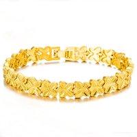 pulseiras de ouro para namorada venda por atacado-ms de luxo de alta qualidade placer pulseira de ouro de bronze chapeamento 24 k presentes namorada pulseira de ouro não se desvanece