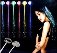 Wholesale glowing jellyfish ornaments for sale - Group buy LED Flashing Hair Jellyfish Braid Glowing Luminescent Hairpin Novetly Hair Ornament Girls Led Toys New Year Party Christmas Gift