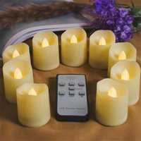 velas de control remoto al por mayor-Velas LED sin llama con funcionamiento a batería de Homemory con temporizador de control remoto, vela fluorescente LED sin fragancia para la decoración