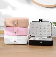 Wholesale jewelry display travel case for sale - Group buy Jewelry Storage Box Women PU Leather Ring Display Case Portable Jewelry Organizerwith mirror for Necklaces Travel Box OOA7410
