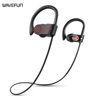 Wholesale wireless tablet headphones resale online - New Wavefun bluetooth headphones IPX7 waterproof wireless headphone sports bass bluetooth earphone with mic For iPhone Android tablets