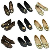 beste flache schuhe marke großhandel-HEISSES meistverkauftes 2020 Frauen sondern Schuhe aus Art- und Weiseluxusrundkopfschuh-Marken-Qualitäts-Mokassin-flache Freizeitschuhgröße 35 ~ 42