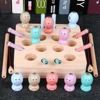 ahşap arı göz oyuncağı toptan satış-Çocuk erken eğitim eğitici oyuncaklar çocuk 1-3 yaş ve yarım manyetik bebek alıcı böcek oyunları ahşap