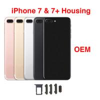 étui iphone or rose achat en gros de-Couverture arrière arrière logement de la batterie porte châssis moyen cadre pour iPhone 7 7 Plus or blanc Rose Jet et noir mat