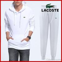 vêtements de jogging achat en gros de-Sweat Suit Sweat Suit Hommes Sweats Marque Vêtements Survêtements Vestes Sportswear Ensembles Jogging Costumes Hoodies Hommes # 1223