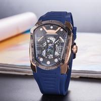 calibre 16 relógio automático venda por atacado-2019 mens relógios de pulso 44mm tamanho CAL 1887 automático glide relógios lisos face preta relógio caixa de aço inoxidável Calibre 16