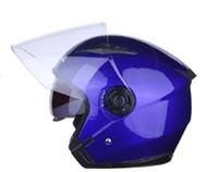 piezas de la motocicleta de fábrica al por mayor-Multicolor de la motocicleta abierta de la cara cascos de la vendimia para BMW Racing moto al por mayor fábrica de piezas deportivas