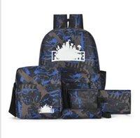 mochilas juveniles al por mayor-HG Mochila para hombres y mujeres Juego Fortress Night Light Bag Youth Campus Mochila de cinco piezas Bolsa deportiva