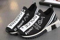 turnschuhe g großhandel-Neuheit DOLCEs D.Gs Unisex Blau Strick Sorrento GABBANAs Sneaker D G Logo Türkis Mesh Sneaker Laufen Freizeitschuhe