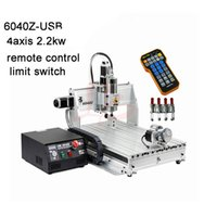 router gravierbohrer großhandel-LY 6040 2200W USB-3-Achsen / 4-Achsen-CNC-Fräser Engraver YOOCNC Engraving Bohr- und Fräsmaschine