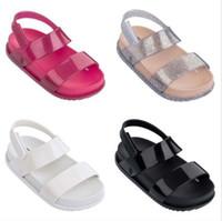 4970dc556fe8da stil erkek sandal ayakkabıları toptan satış-Çocuk Sandalet Kız Prenses  Ayakkabı Çocuklar Düz Sandalet Bebek