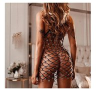 Wholesale harnesses gauze resale online - Hot Sexy beach wear hollow out the harness sand white gauze skirt long v neck Bohemia nets hole knitting swimsuit smock
