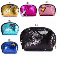 Wholesale wedding sequins bags for sale - Group buy Sequin Cosmetic Bags Mermaid Sequins Makeup Bag Girl Evening Bag Lady Wedding Clutch Bag Travel Makeup Organizer Colors YW1073