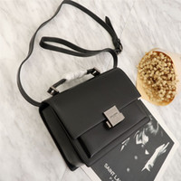Wholesale small college bags resale online - New Euro American Explosive Retro College Women s Small Square Bag Hand held Bill of Lading Shoulder Slanting Cowhide South Korea East
