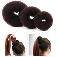 Wholesale bun shaper resale online - New Fashion Women Lady Magic Shaper Donut Hair Ring Bun Accessories Styling Tool S M L easy handle