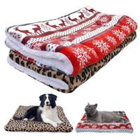 polar kefal toptan satış-Battaniye Chihuahua Sleeping Ultra Polar Köpek Yatak Mat Sıcak Kış Köpek Kedi Evi Kennel Küçük Orta Büyük Köpekler Yataklar Noel