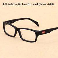 931ebd82603 Vazrobe Acetate Glasses Frame Men Women Black Eyeglasses Man for Prescription  Spectacles Free 1.56 Index Optic Resin Lens