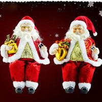 Wholesale dolls favors resale online - 1pcs Christmas Decorations Santa Claus Sit Doll Party Supplies Favors Toys cm For Home Garden Ornament