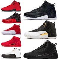 zapatos negros de los hombres franceses al por mayor-Winterized WNTR 12 12s zapatos de baloncesto para hombre Gym Red Wings Nylon Bulls French Blue hombre Sport Sneakers 7-13 Wholesale Drop Ship