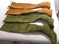 botas de rodilla color canela al por mayor-2019 caída para mujer negro luz verde del moreno estiramiento pico de oro del cuero de gamuza tachonado del muslo de alta encima de la rodilla con cremallera hasta botas altas