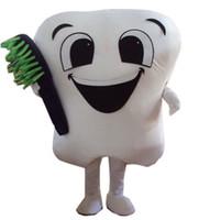 trajes de dentes venda por atacado-Venda quente dente mascote dos desenhos animados da mascote do traje do vestido extravagante