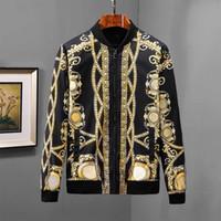 erkekler için moda ceket modası toptan satış-Tasarımcı moda 18 yıl erkek motosiklet ceket yaka yaka Ince rahat erkek kot ceket mavi gömlek erkek ceket marka
