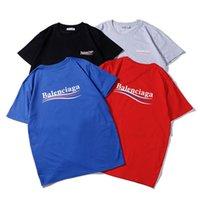 casual clothing al por mayor-Diseñador de camisetas Ropa para hombre Marca de lujo Tops Camiseta Moda Verano Marea Braned Cartas Impreso Casual Camisetas