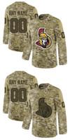 camisas camuflagem hóquei venda por atacado-Customized Camo Ottawa Senators Jersey Erik Karlsson Duchene Matt Ryan Dzingel Wideman Tom Pyatt Bobby Ryan Camuflagem Hóquei Costurado