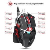 mäuse großhandel-A869 Hxsj Bunte leichte Gaming-Maus Esports-Kabelmaus Dpi Vier Dateien einstellbar bis zu 3200 dpi Schwarz