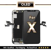 iphone lcd ekran oem toptan satış-IPhone X Için Yedek OLED Yumuşak sert Tianma TFT Ekran Ve Dokunmatik Ekran Digitizer OEM Kalite Bir Yıl Garanti Ücretsiz DHL Kargo