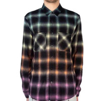 hochwertige kleidhemden großhandel-Steigungs-Regenbogen-Plaid-langes Hemd-Mens-Entwerfer-Smokinghemd-Frauen-Paar-Straßen-hochwertige heiße Verkaufs-Art- und Weiseflut-Luxusjacke HFSSJK184