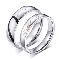 ingrosso amore anelli di promessa wedding wedding-Anello da donna in acciaio inossidabile Real Love Cuore Anello da fidanzamento