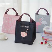 wärmedämmung groihandel-Neue Babynahrung Milchflasche Lagerung Isolierung Taschen Wasserdichte Oxford Flamingo Bag Lunch Bag Infant Kinder Lebensmittel Wärmer Thermotasche