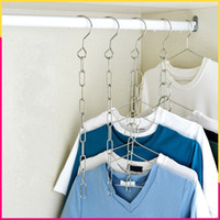 Wholesale chains hang clothes for sale - Group buy Stainless Steel Clothing Coat Hanger Chain Wardrobe Multi Function Hanging Chains Popular High Quality And Inexpensive Sell Well kw J1