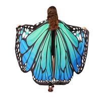 flügel für kostüme großhandel-Egypt Belly Wings Blauer Schmetterling Egypt Dance Kostüm Performance Prop Bunt No Sticks Dance Wear Zubehör