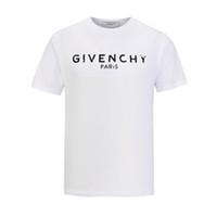 создание футболки оптовых-GV Марка дизайн Летняя Уличная одежда Европа Paris Fan Made Мода Мужчины Высокого Качества Разбитое Отверстие Хлопок Футболка Повседневная Женщины Футболка giv Футболка