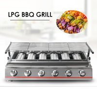 Wholesale gzzt for sale - Group buy GZZT Burners BBQ Grill Gas Barbecue Grill For Outdoor Picnic Garden LPG Commercial Household Kitchen Accessories Tools