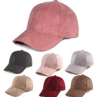 Wholesale suede hats for sale - Group buy 2018 New Brand Stylish Men Women New Black Baseball Cap Snapback Hat Hip Hop Adjustable Bboy Caps Suede Multi Colors Hats