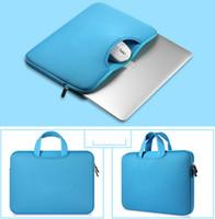 deri örnek kutuları toptan satış-Çok renkli Yumuşak Laptop Kol 11 13 15 15.6 inç Laptop Çanta Case For Macbook Air 13 Pro Retina 15 notebook çantaları 12 14 DHL