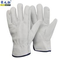 ingrosso guanti in pelle di capra-ROTOSAFETY Vendita calda morbida capra guanti da lavoro in pelle di guida guanti in pelle uomini di buona qualità guanti rinfusa fabbrica in Cina